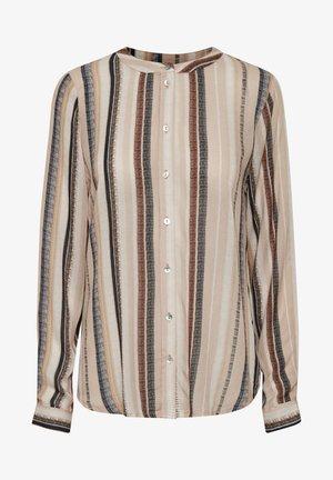 KAFELINA - Button-down blouse - beige