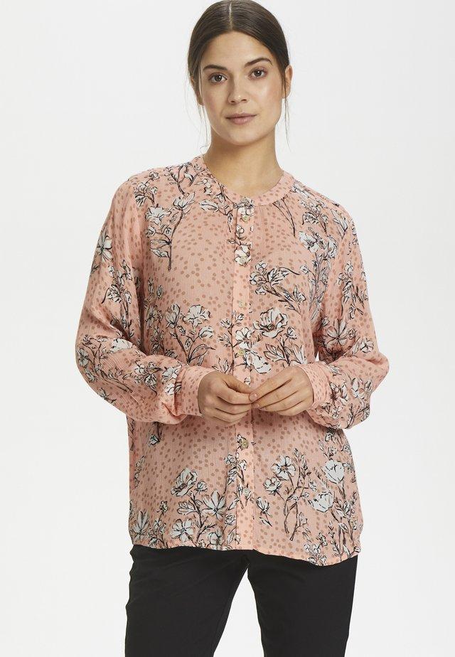 KAFELINE - Button-down blouse - peach beige
