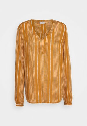 BELLA AMBER BLOUSE - Bluse - inca gold/chalk