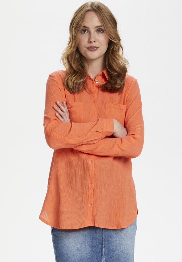 Button-down blouse - living coral