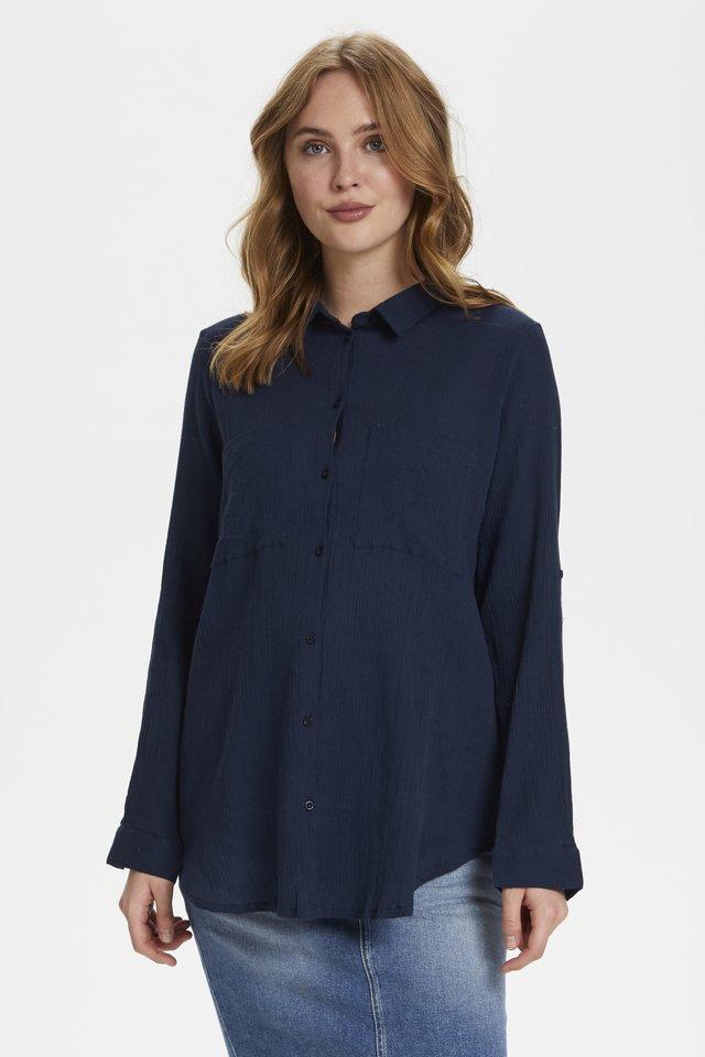 Button-down blouse - midnight marine