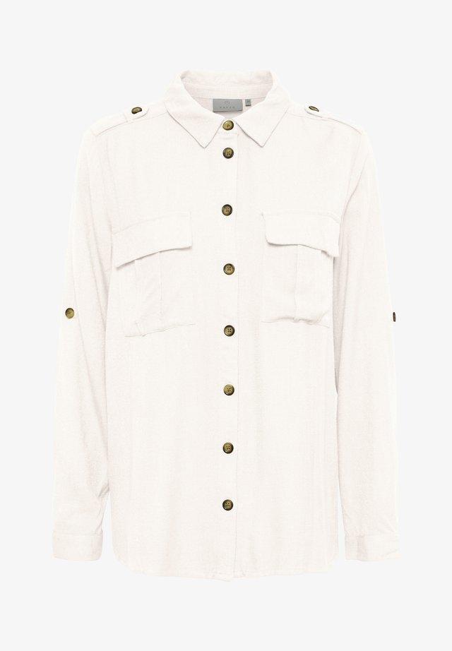 Button-down blouse - chalk