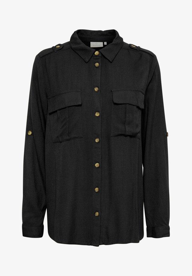 Button-down blouse - black deep