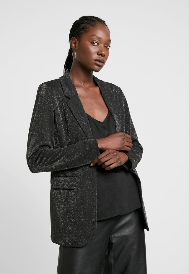 KAJELENA - Abrigo corto - black/silver