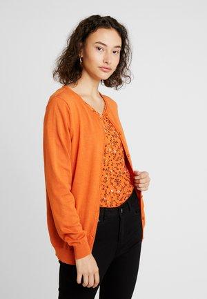 ASTRID CARDIGAN - Cardigan - burnt orange