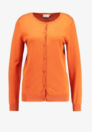 ASTRID CARDIGAN - Kofta - burnt orange
