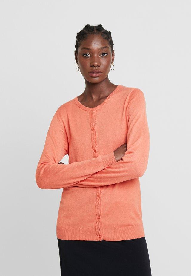 ASTRID CARDIGAN - Kardigan - dull orange