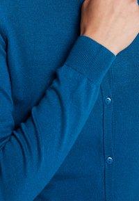 Kaffe - ASTRID CARDIGAN - Chaqueta de punto - moroccan blue - 5