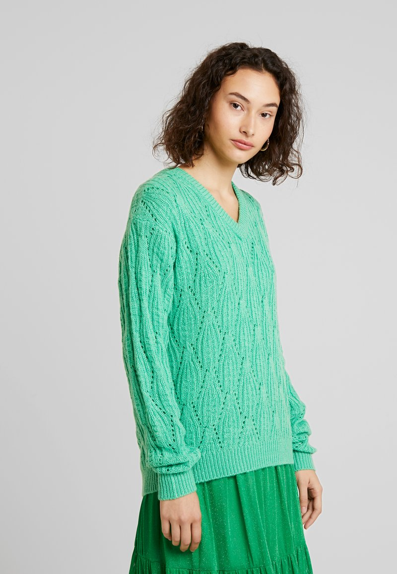 Kaffe - KASOLEMA - Strikpullover /Striktrøjer - irish green