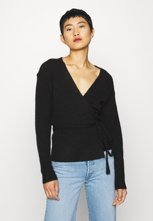 KAWENDY WRAP CARDIGAN - Vest - black deep