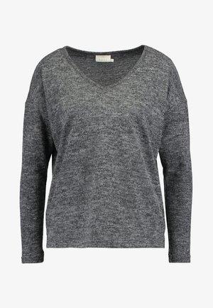 KASIANE V NECK  - Jumper - dark grey melange