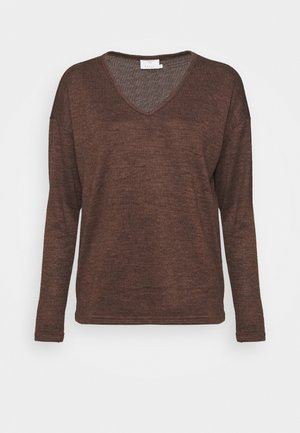 KASIANE V NECK  - Jumper - brown