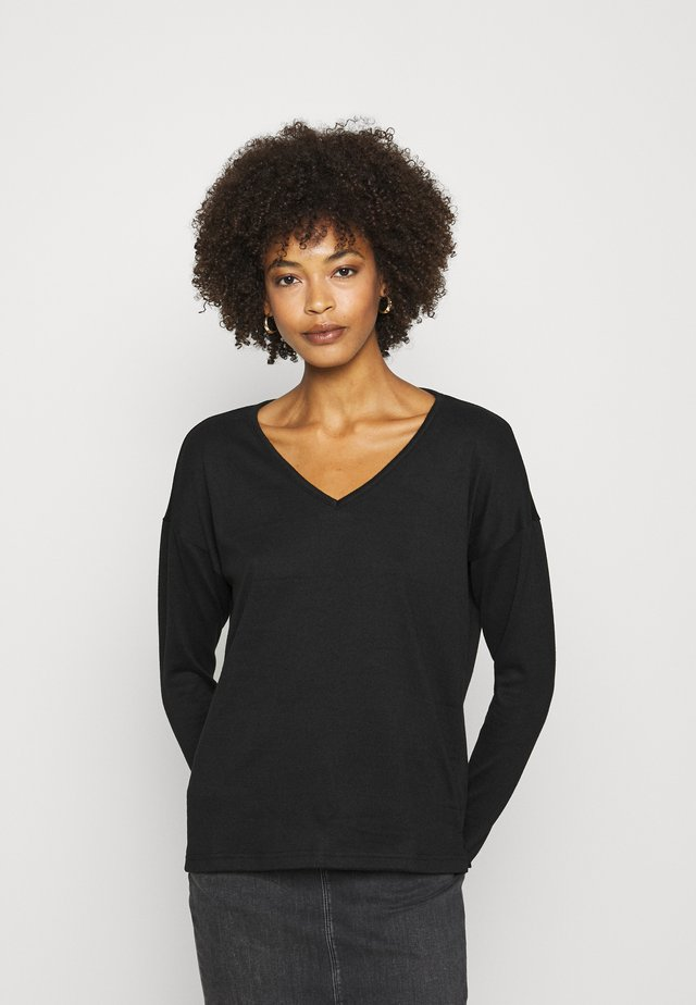 KASIANE V NECK  - Stickad tröja - black deep