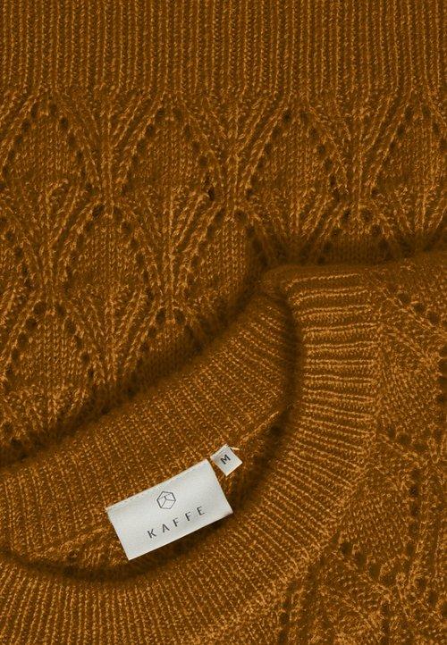 trwałe modelowanie Kaffe KASOLEMA LINE - Sweter - orange Odzież Damska MJFG-JP4