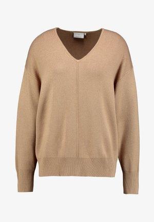 KAMOLLY  - Stickad tröja - tannin melange
