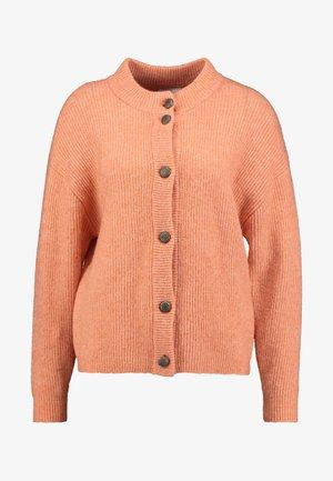 JENNA CARDIGAN - Vest - dull orange/melange