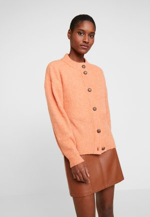JENNA CARDIGAN - Strikjakke /Cardigans - dull orange/melange