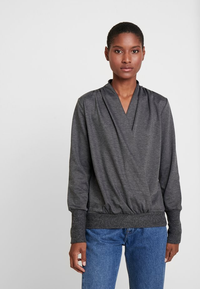 KAPONY WRAP - Sweter - dark grey melange