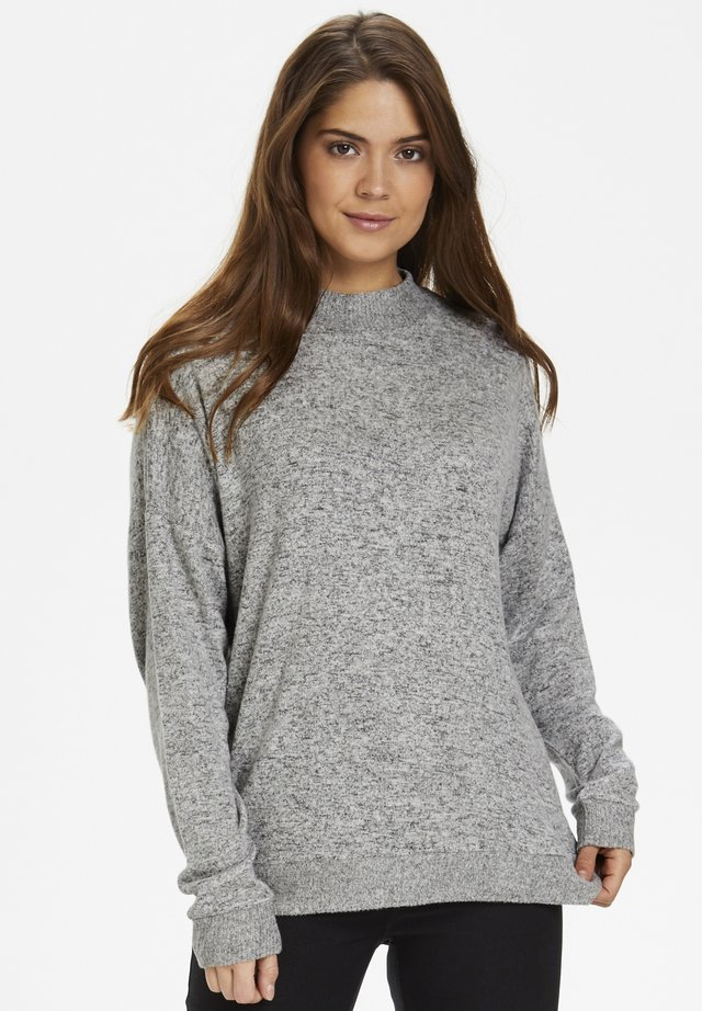 KABELINA  - Sweter - grey melange