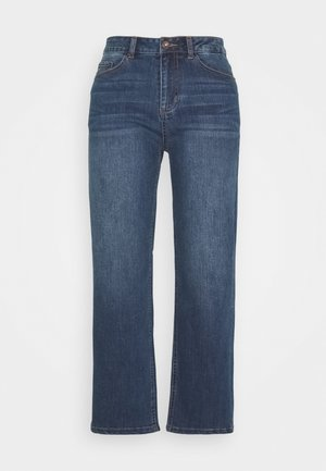 KAEARLENA CROPPED - Jeans relaxed fit - blue denim