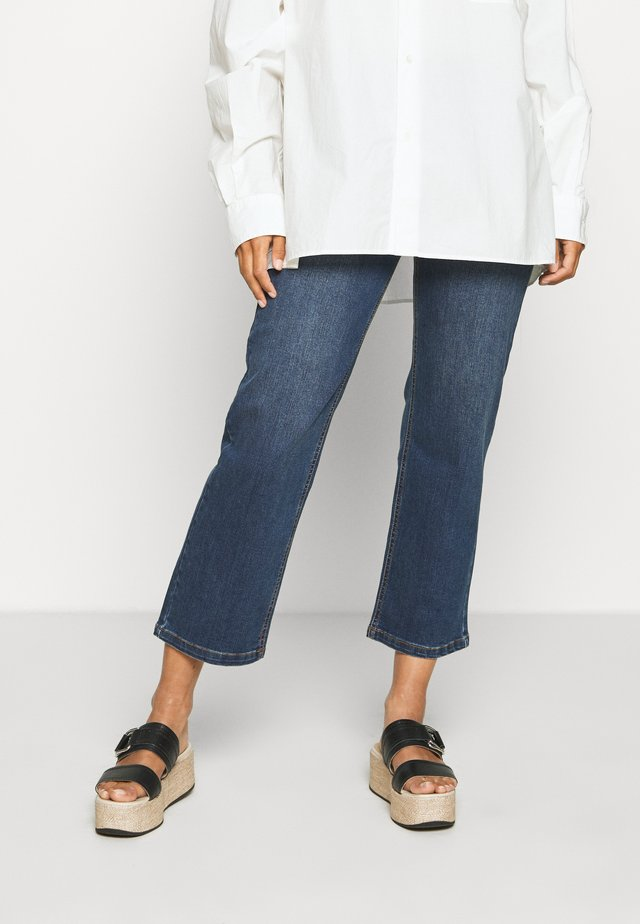 KAEARLENA CROPPED - Relaxed fit jeans - blue denim