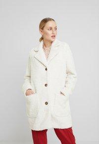 Kaffe - KABALMA SHORT COAT - Winter coat - chalk - 0