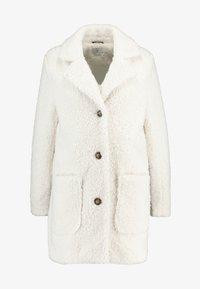 Kaffe - KABALMA SHORT COAT - Winter coat - chalk - 4