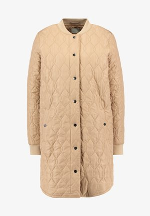 SHALLY QUILTED COAT - Krátký kabát - tannin