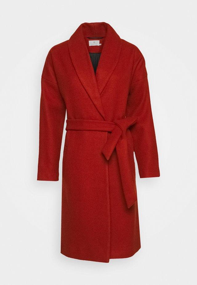 KABARLY COAT - Zimní kabát - dark chili
