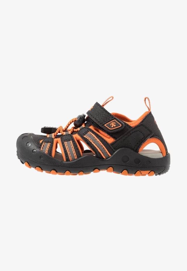 CRAB - Trekkingsandale - black/orange/charcoal