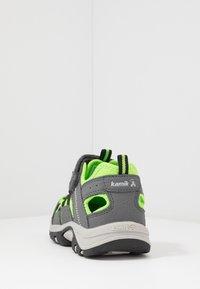 Kamik - WILDCAT - Vandringssandaler - charcoal lime/charbon citron vert - 4