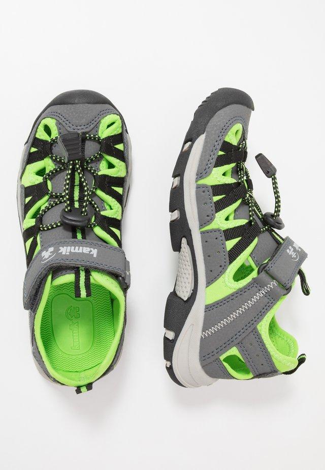 WILDCAT - Walking sandals - charcoal lime/charbon citron vert