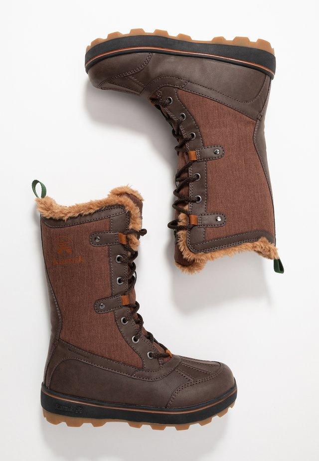 CINNAMON - Snowboots  - dark brown