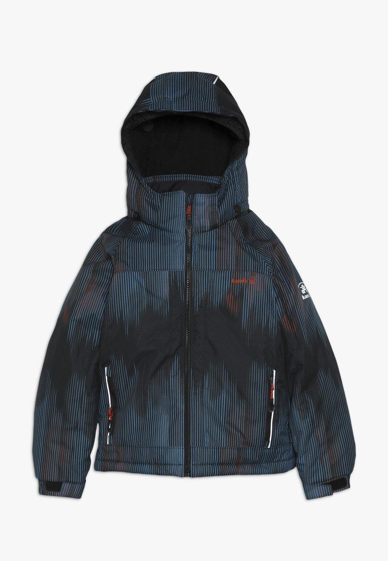 Kamik - RUSTY BAMBOOM - Hardshell jacket - black/petrol