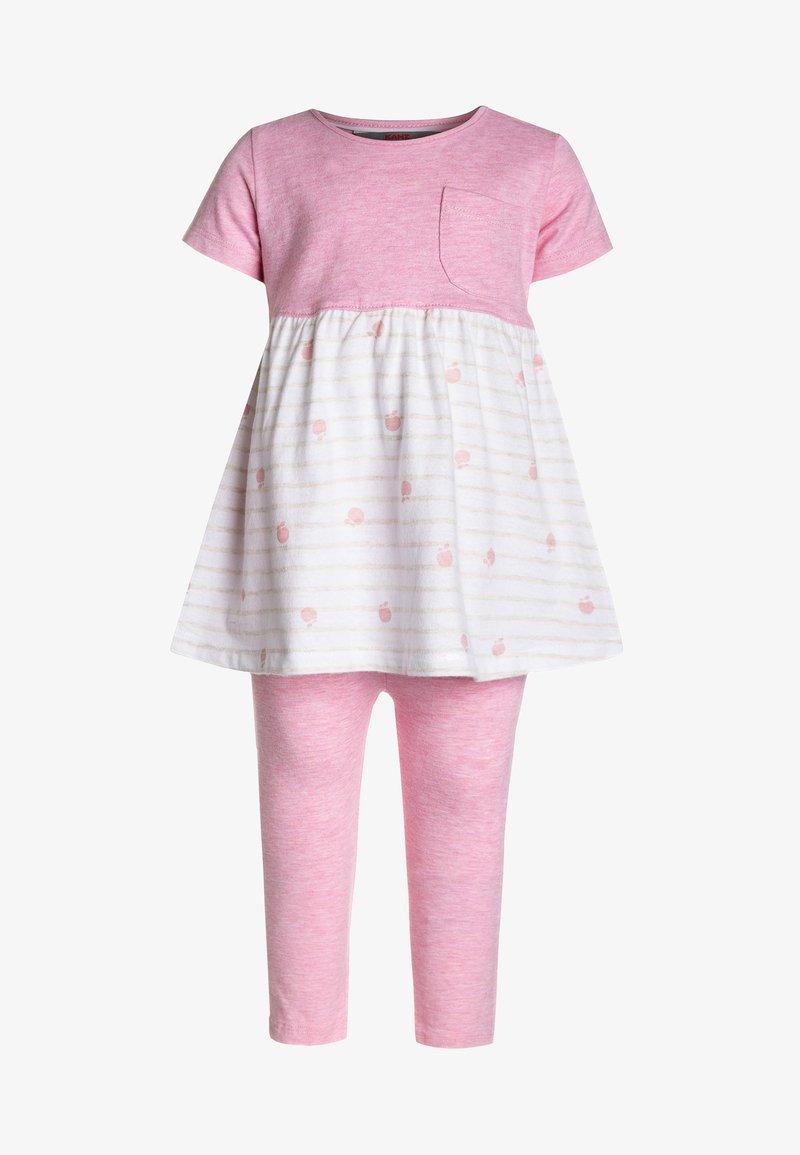 Kanz - 1/4 ARM LEGGINGS BABY SET  - Trousers - prism pink melange/rose