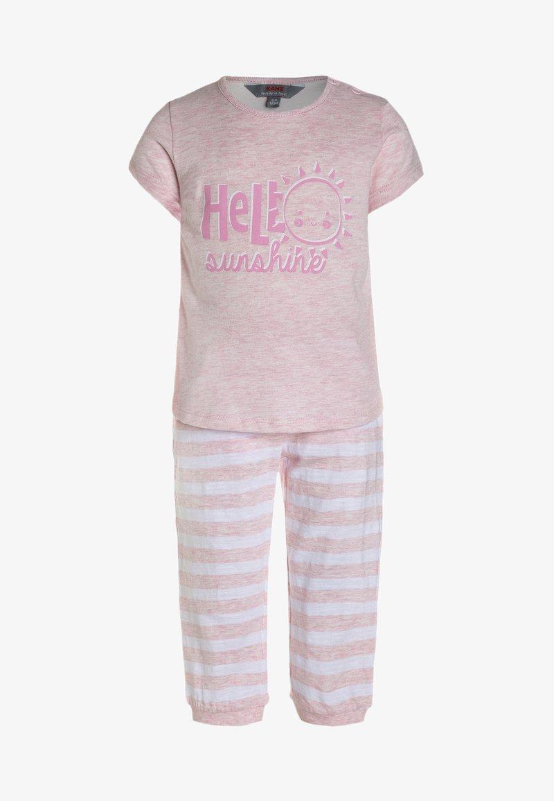Kanz - 1/4 ARM BEACH DAYS BABY SET - Trousers - cradle pink melange/rose
