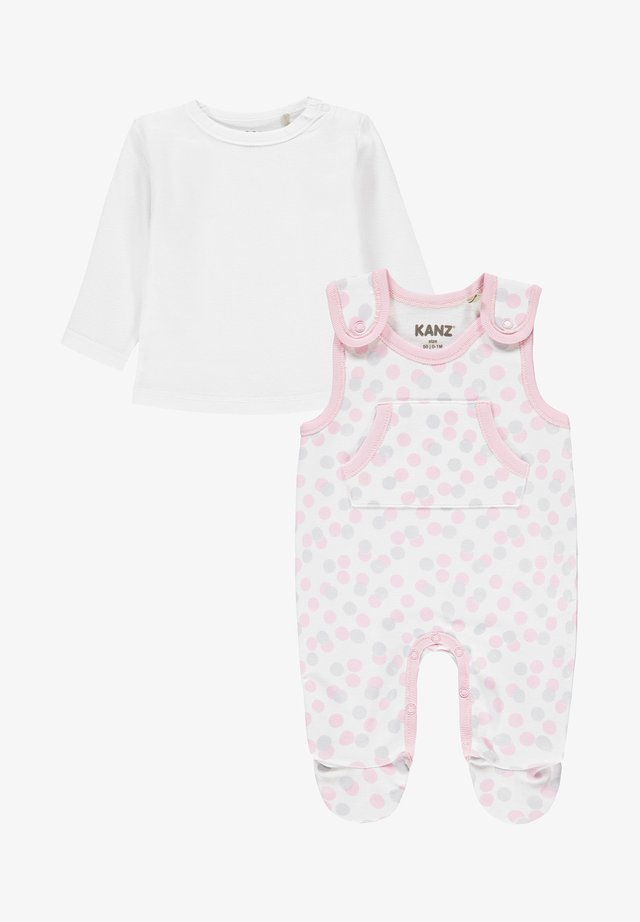 SET - Jumpsuit - pink/white/light pink