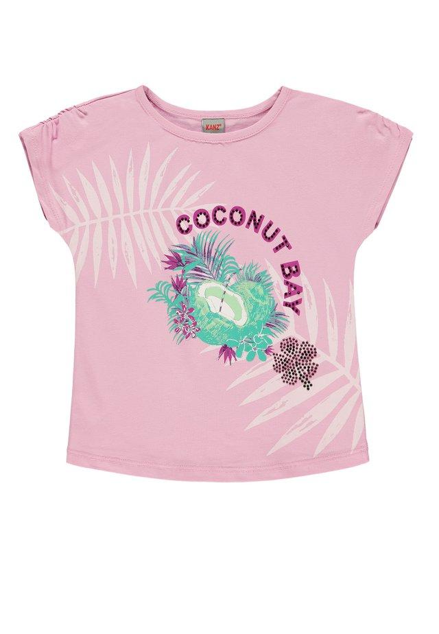 Print T-shirt - pastel lavender