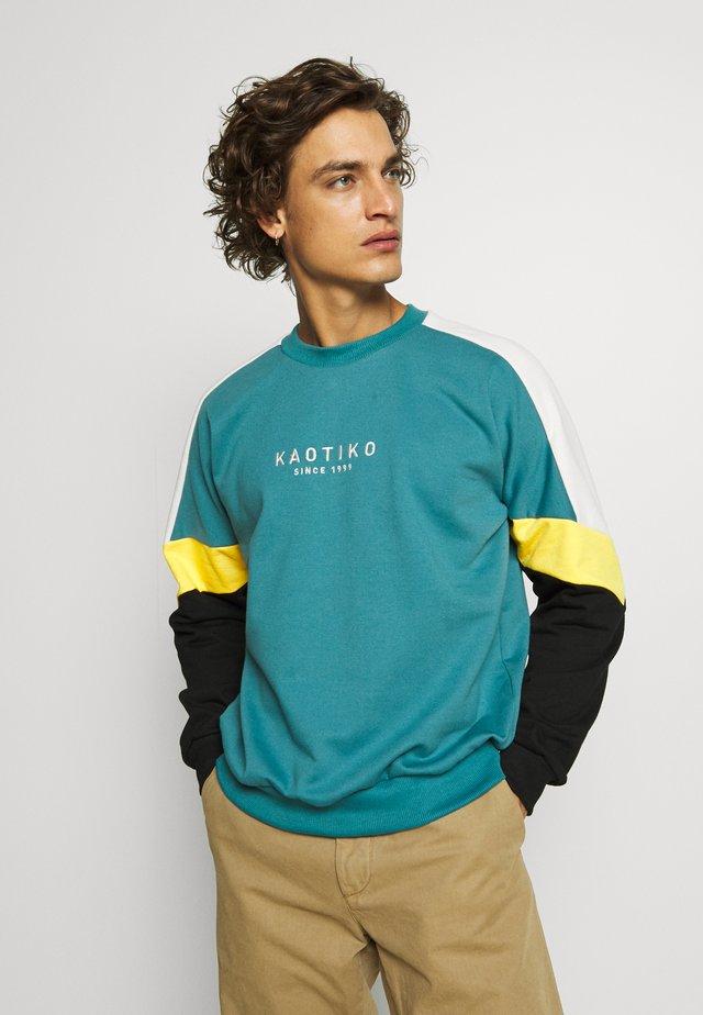 CREW SETH AQUA UNISEX - Sweatshirt - teal