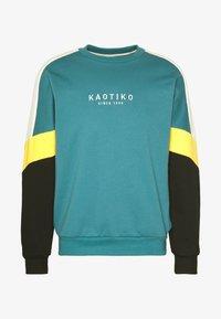 Kaotiko - CREW SETH AQUA UNISEX - Sweater - teal - 5