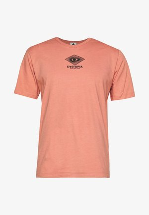 DYSTOPIA SALMON UNISEX - Print T-shirt - pink