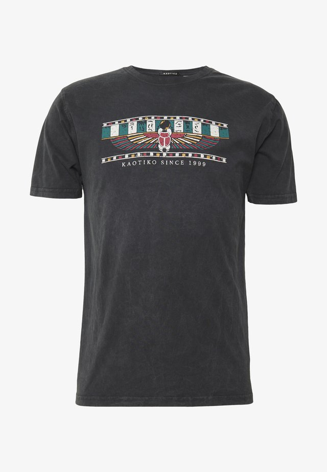 TIE DYE EGYP - T-shirt med print - dark grey