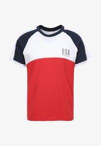 Kaotiko - Print T-shirt - blanco/rojo/marino - 3