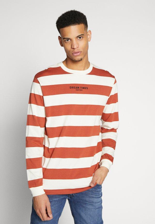 Långärmad tröja - red/white