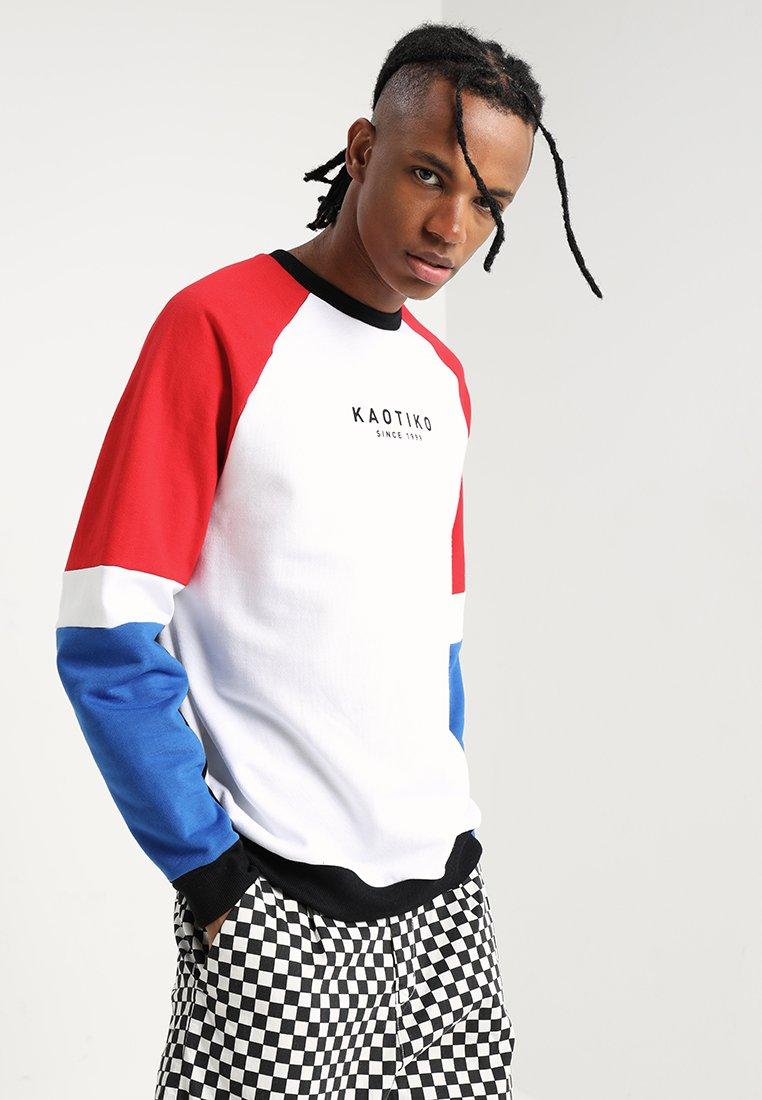 Kaotiko - Sweatshirt - white/red
