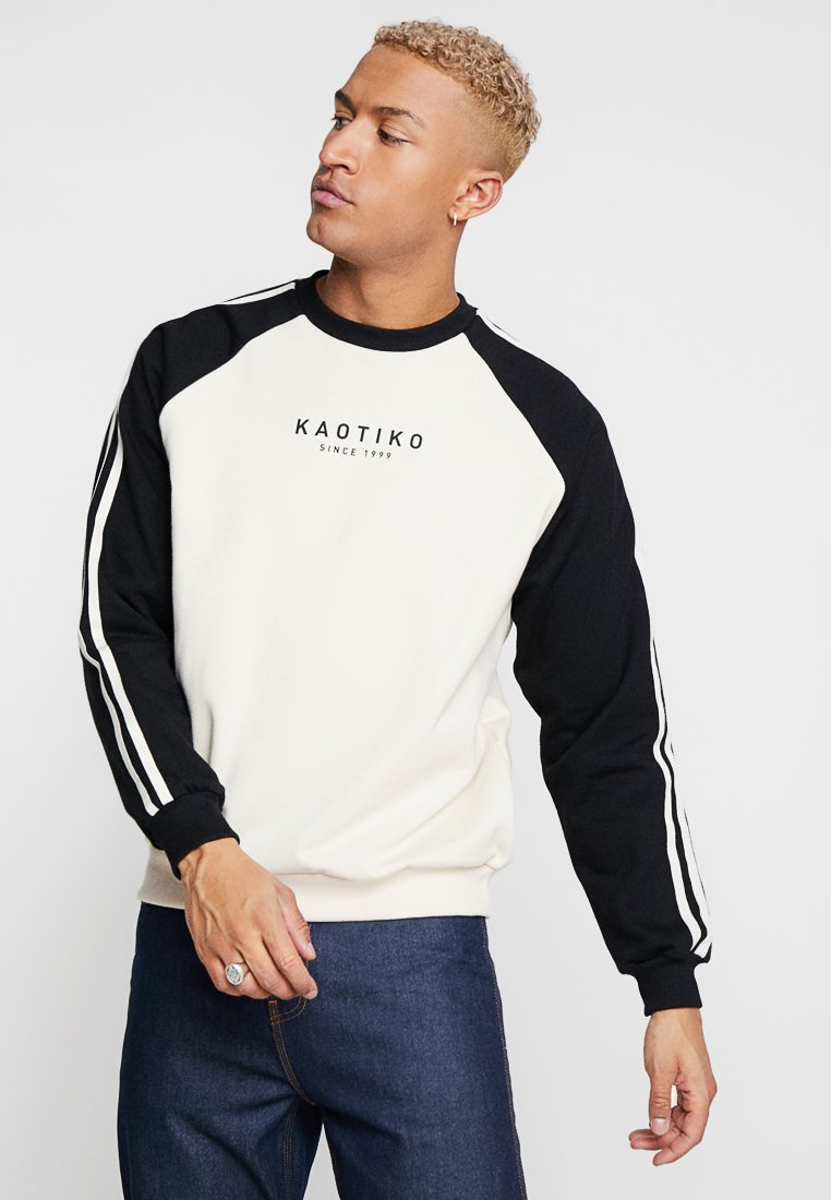 Kaotiko - Sweatshirt - white/black
