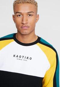 Kaotiko - Sweater - black/white/yellow - 4