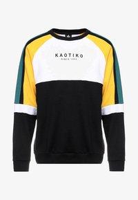 Kaotiko - Sweater - black/white/yellow - 3