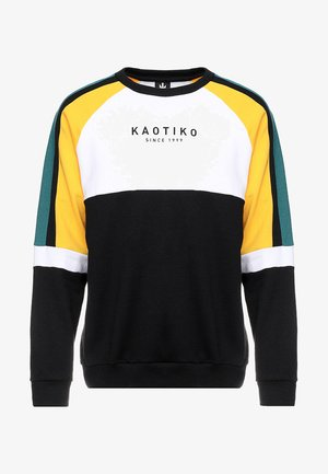 Collegepaita - black/white/yellow