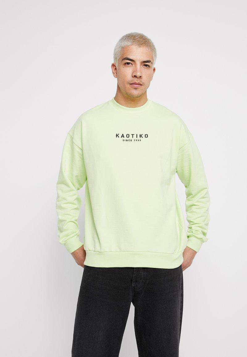 Kaotiko - CREW ALAN - Sweatshirt - neon green